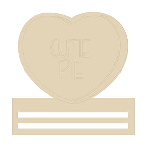 "Cutie Pie Heart Wreath Rail - 12"" or 20"""