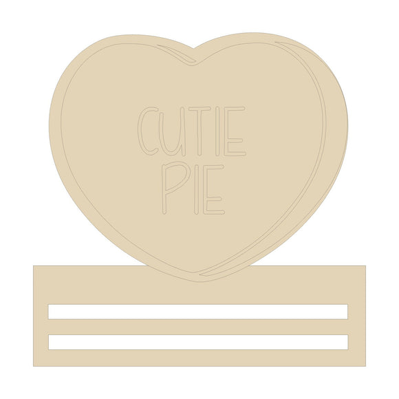 Cutie Pie Heart Wreath Rail - 12