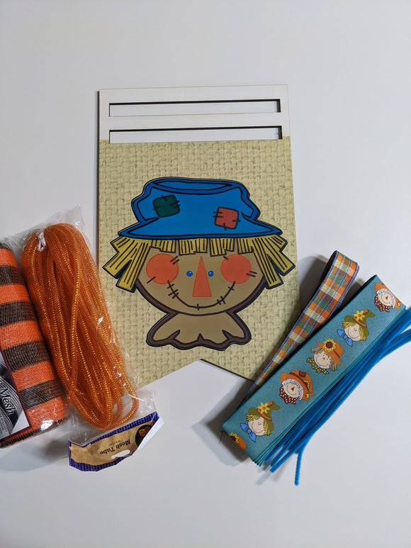 Scarecrow Bunting Wreath Rail Kit with Tubing