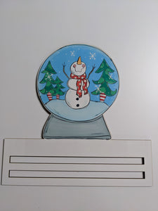 Snowman Snowglobe Wreath Rail