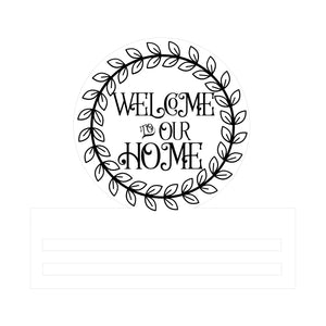 Welcome Everyday Round Wreath Rail