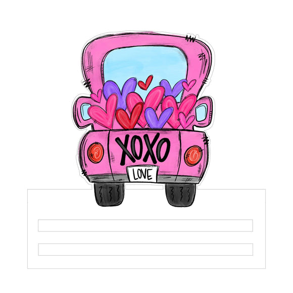 Xoxo Love Truck Printed Wreath Rail