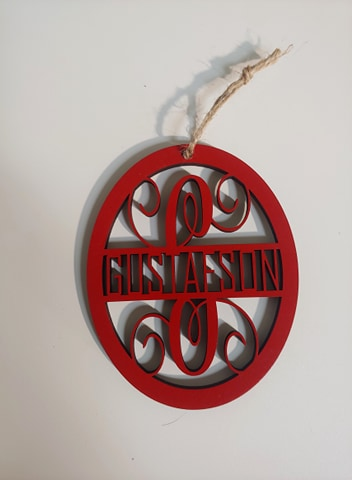 Last Name Monogram Ornament 5