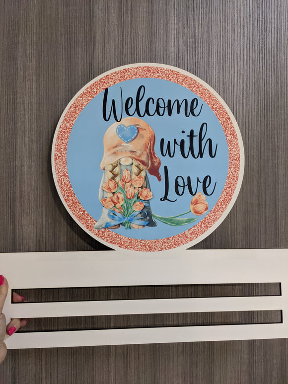 Welcome With Love Printed Wreath Rail