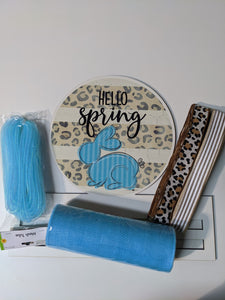 Hello Spring Bunny Wreath Rail Kit