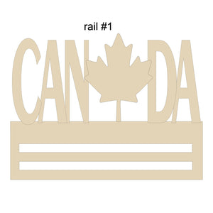 Canada Leaf Wreath Rail (2 Choices)