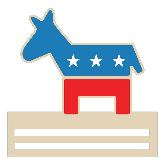 Democratic Donkey Wreath Rail