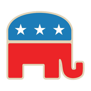 Republican Elephant Wood Cutout - Various Sizes