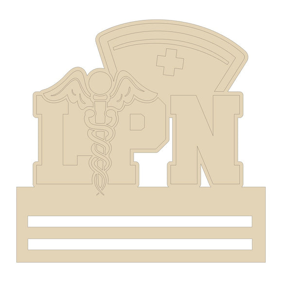 LPN Nurse Wreath Rail - 12