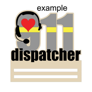 "911 Dispatcher Rail - 12"" 16"" 20"""