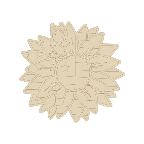 Patriotic Sunflower Cutout
