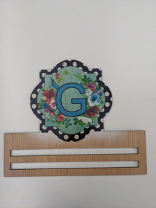 Monogram Quatrefoil Printed Wreath Rail