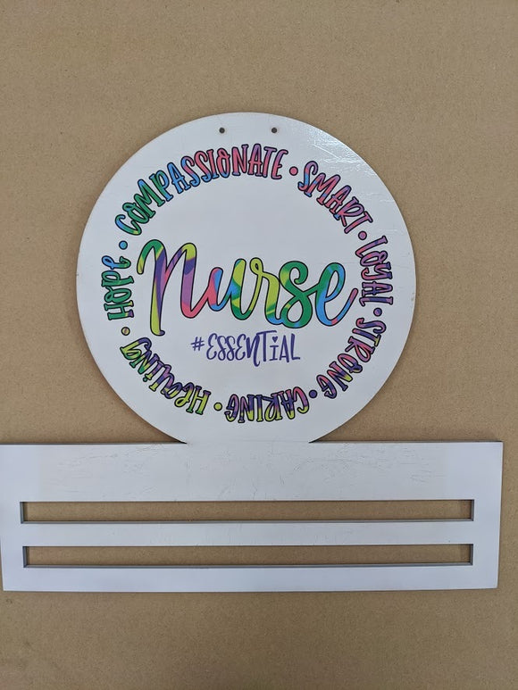 Nurse Printed Wreath Rail