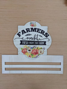 Floral Farmers Market Printed Wreath Rail