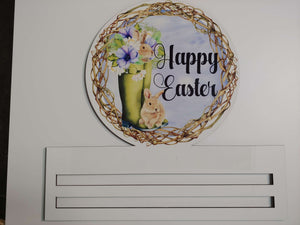 Happy Easter Grapevine Printed Rail
