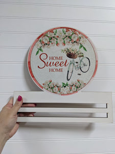 Home Sweet Home Bicycle Round Wreath Rail
