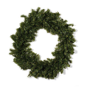 Canadian Pine Wreath - 300 Tips - Green - 30 inches