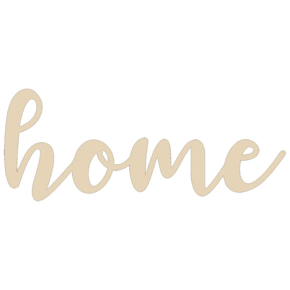 Home Word Cutout