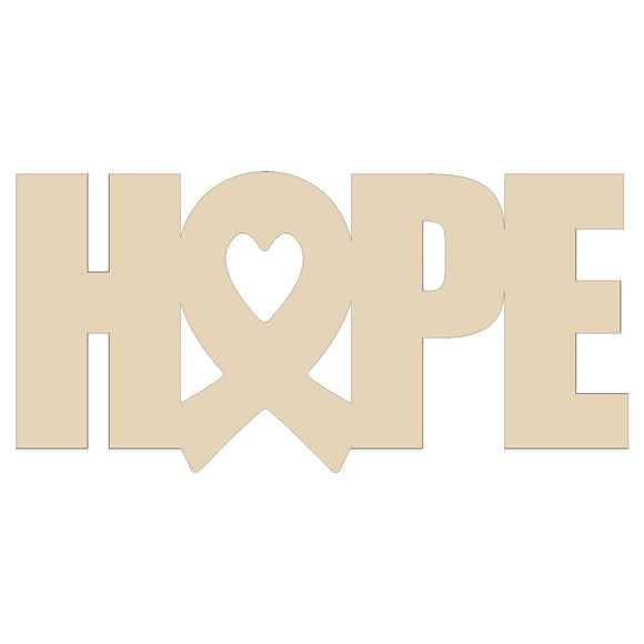 Hope Heart Awareness Door Hanger - 20