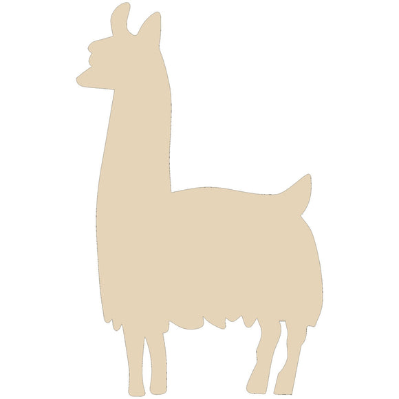 Llama Wood Cutout - Various Sizes