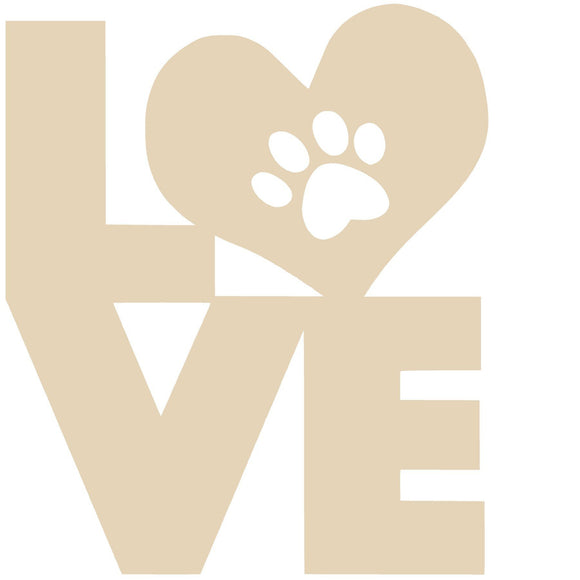 Love Heart Paw - Various Sizes