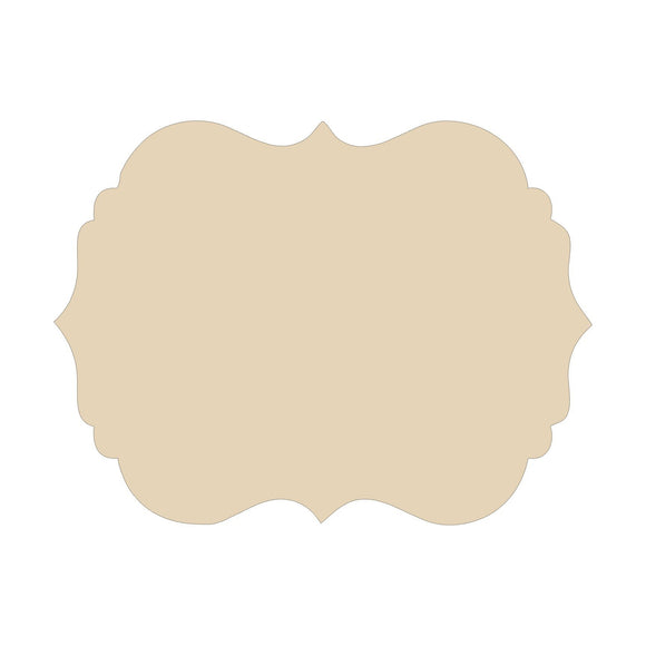 Scalloped Wood Blank - 6