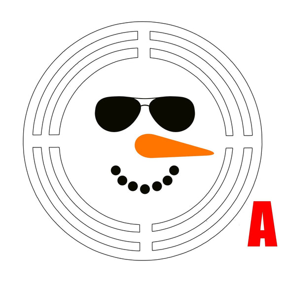Snowman Face Door Hanger Rail