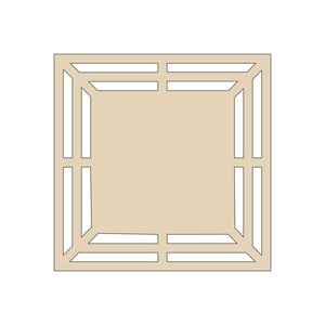 Square Door Wreath Rail with Center - 16""