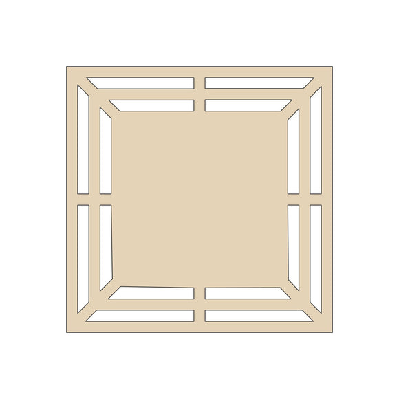 Square Door Wreath Rail with Center - 16