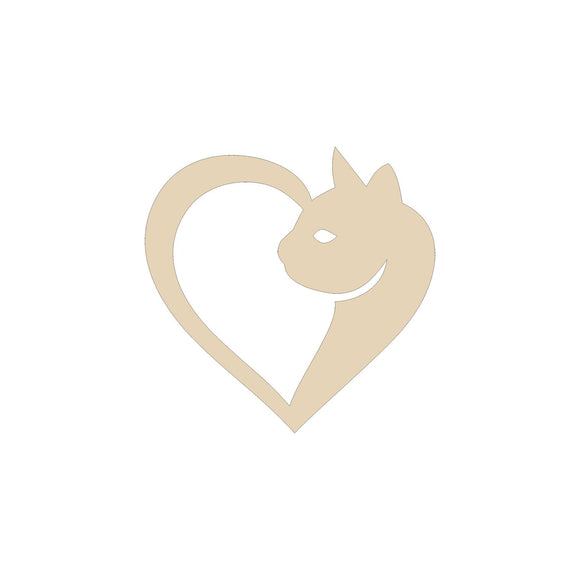 Cat Heart Cutout - 6