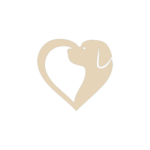 Dog Heart Cutout