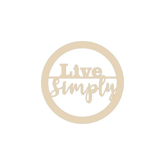 Live Simply circle wood blank - 12