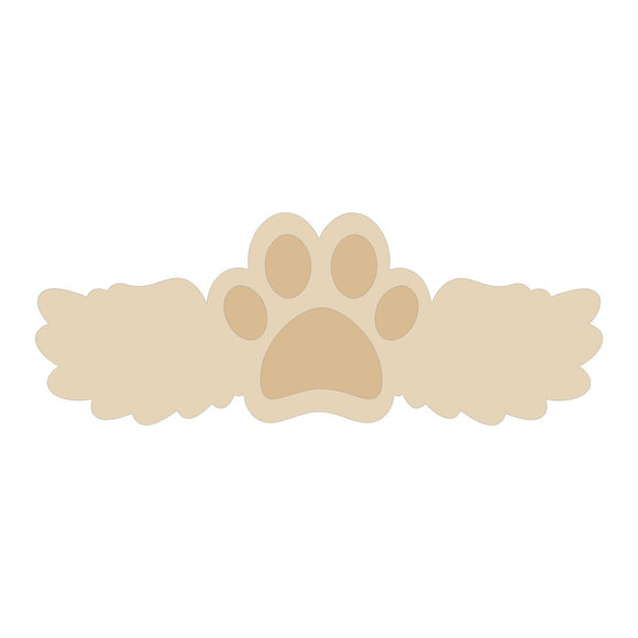 Paw With Wing Wood Cutout - Various Sizes