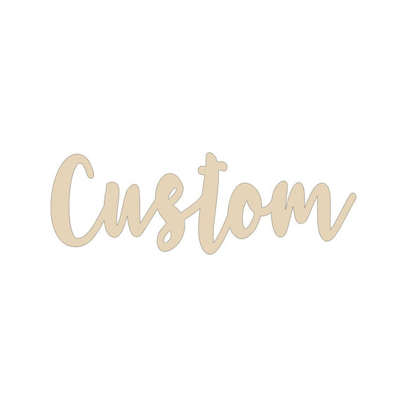 Custom name wood blank - 12