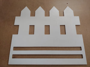Picket Fence Door Hanger Rail