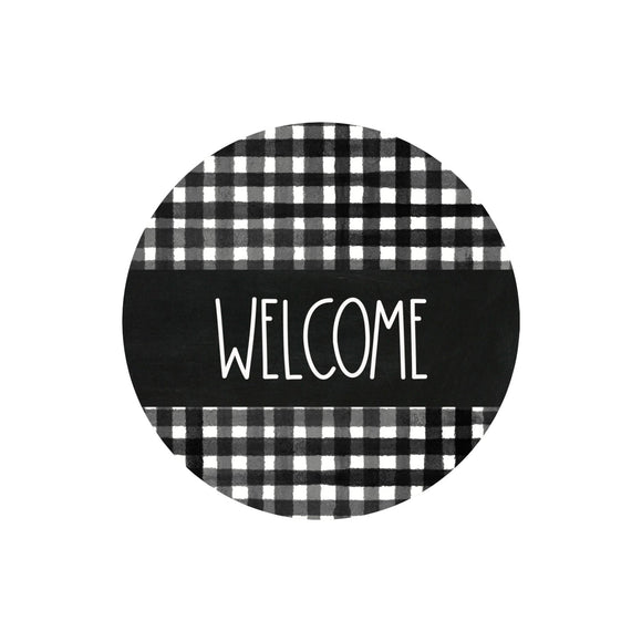 Farmhouse Welcome - Metal Wreath Sign