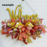 Welcome Wreath Rail - Painted- 20 inch