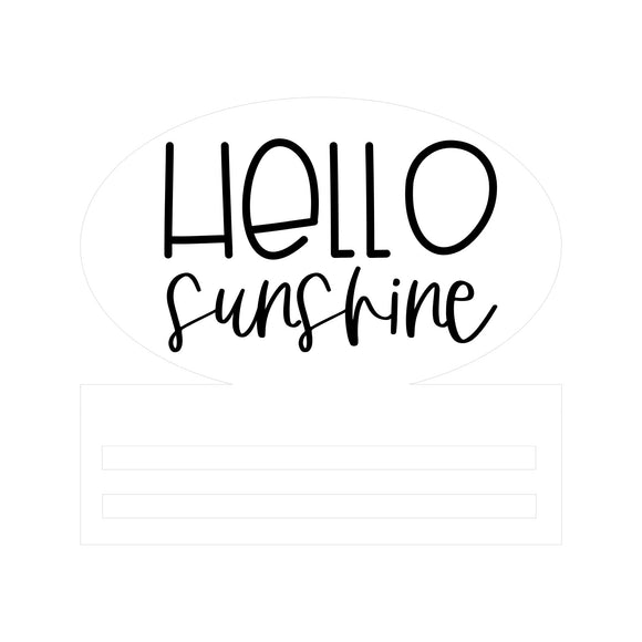 Hello Sunshine Oval Wreath Rail