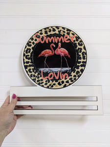 Summer Lovin Flamingo Wreath Rail