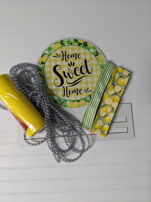 Home Sweet Home Lemon Wreath Rail kit