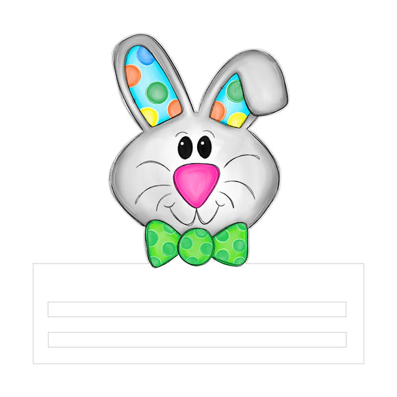 Easter Bunny Printed Wreath Rail (bowtie)