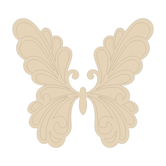 Butterfly Cutout with Etched Lines