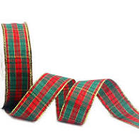"1.5"" X 10 yd Christmas Plaid"