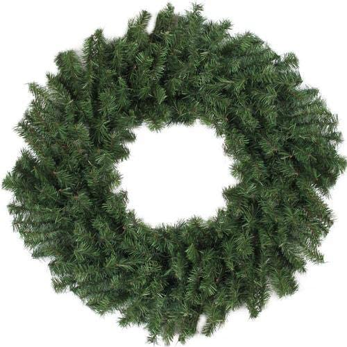 Darice Traditional Green Canadian Pine Artificial Christmas Wreath - 30-Inch, Unlit