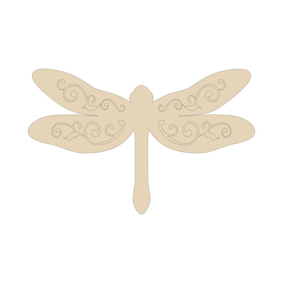 Dragonfly Wood Cutout - Various Sizes