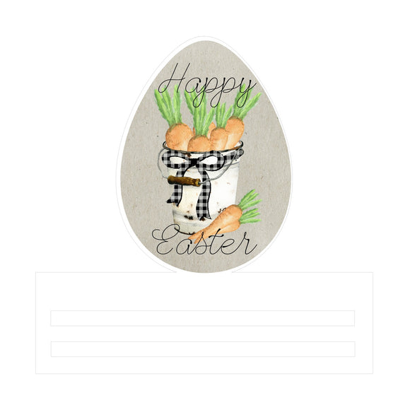 Happy Easter Egg Printed Wreath Rail