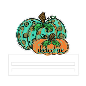 Welcome Pumpkin Printed Wreath Rail
