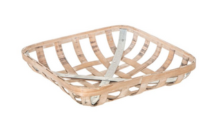 Tobacco Basket- 16 inch square - with metal