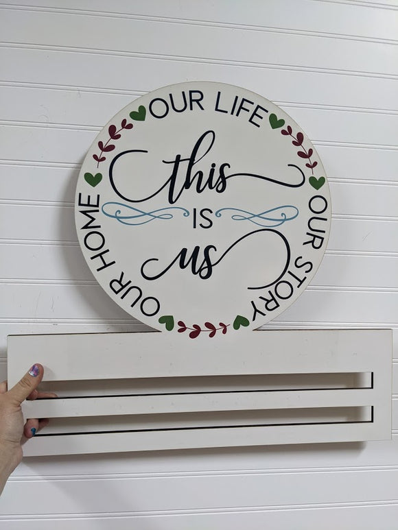 This Is Us Printed Wreath Rail