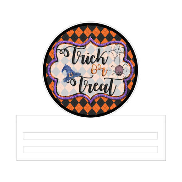 Trick or Treat Printed Wreath Rail